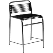 Euro Style™ Bungie-C Bungee Cord Counter Stool, Black