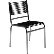 Euro Style™ Bungie-S Dining Side Chair, Black