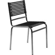 Euro Style™ Bungie-S Flat Dining Side Chair, Black