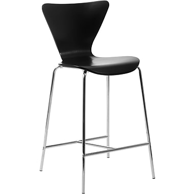 Euro Style™ Tendy-C Laminated Wood Counter Stool, Black