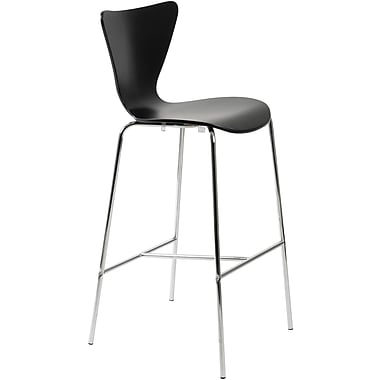 Euro Style™ Tendy-B Laminated Wood Bar Stool, Black