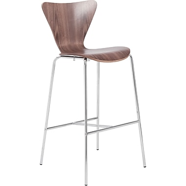 Euro Style™ Tendy-B Laminated Wood Bar Stool, Walnut