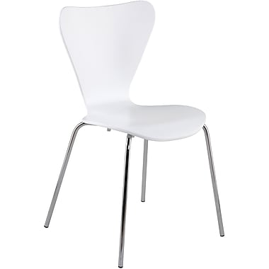 Euro Style™ Tendy Laminated Wood Dining Side Chair, White