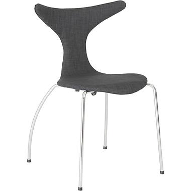 Euro Style™ Frida Laminated Wood Dining Side Chair, Dark Gray