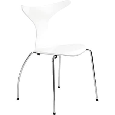 Euro Style™ Frida Laminated Wood Dining Side Chair, White