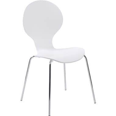 Euro Style™ Bunny Laminated Wood Dining Side Chair, White