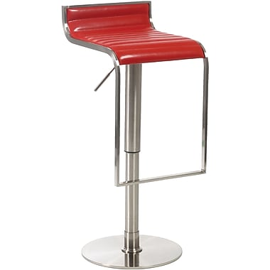 Euro Style™ Forest Leather Bar/Counter Stool, Red