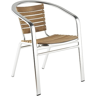 Euro Style™ Shirley Teak Dining Arm Chair, Teak/Aluminum
