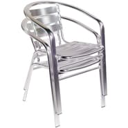 Euro Style™ Sadie Aluminum Stacking Arm Chair