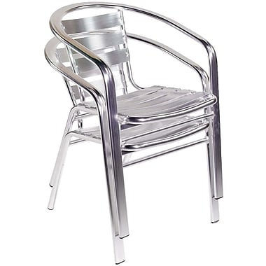 Euro Style™ Sadie Aluminum Stacking Arm Chair