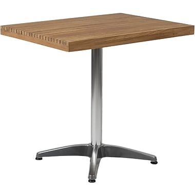 Euro Style™ 29in. x 24in. x 31 1/2in. Sam MDF Dining Table, Teak