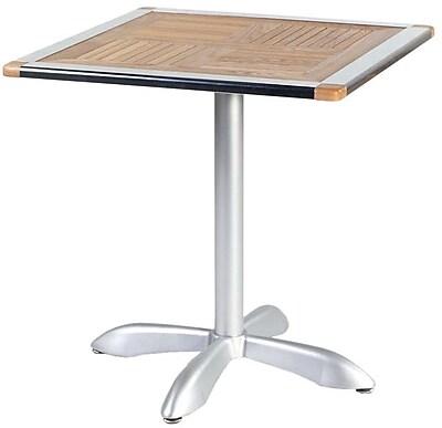 """""""""""Euro Style Sheldon 27 1/2"""""""""""""""" Square Teak Dining Table, Teak"""""""""""" 50491"""
