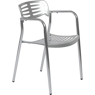 Euro Style™ Helen Anodized Aluminum Dining Arm Chair