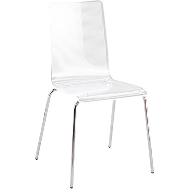 Euro Style™ Lola Acrylic Side Chair, White