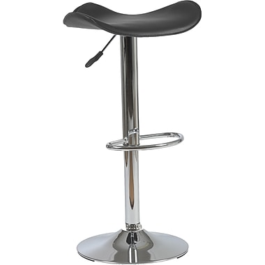 Euro Style™ Fabia Leatherette Bar/Counter Stool, Black