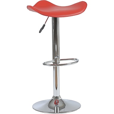 Euro Style™ Fabia Leatherette Bar/Counter Stool, Red
