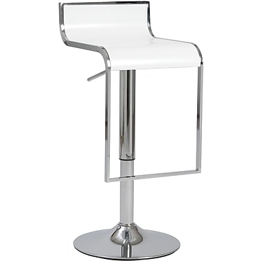 Euro Style™ Fortuna ABS Plastic Bar/Counter Stool, White
