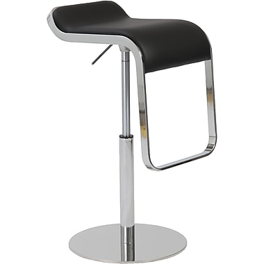 Euro Style™ Freddy Leatherette Bar/Counter Stool, Black