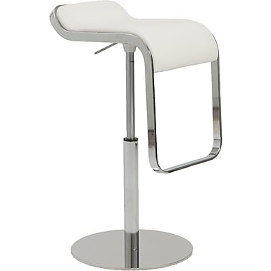 Euro Style™ Freddy Leatherette Bar/Counter Stool, White