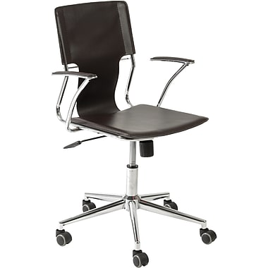 Euro Style™ Terry Leatherette Office Chair, Brown