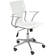 Euro Style™ Terry Leatherette Office Chair, White