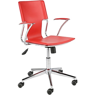 Euro Style™ Terry Leatherette Office Chair, Red