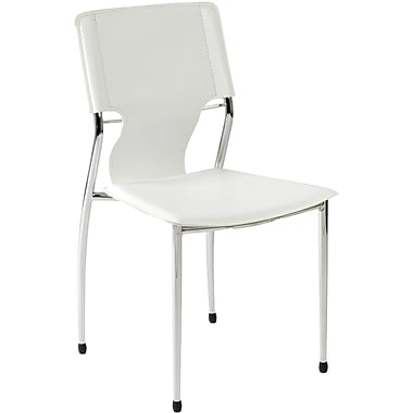 Euro Style™ Terry Leatherette Dining Side Chair, White