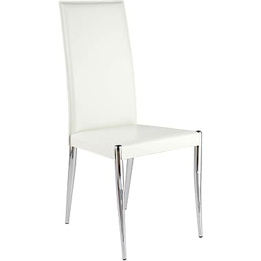 Euro Style™ Rosina Leather Dining Side Chair, White