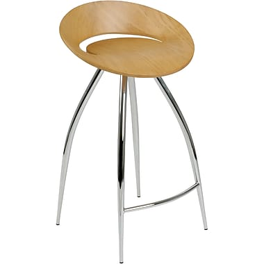 Euro Style™ Rubin-C Laminated Wood Counter Stool, Natural