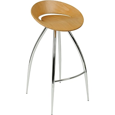 Euro Style™ Rubin-B Laminated Wood Bar Stool, Natural