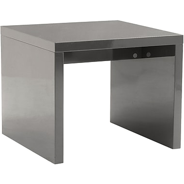 Euro Style™ Abby 24in. Square Wood Side Table, Gray