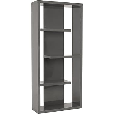 Euro Style™ Robyn 71in. Wood Shelving Unit, Gray