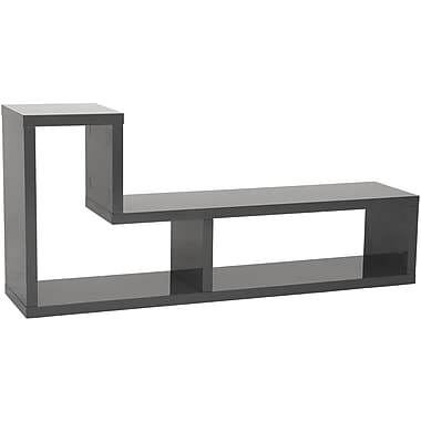 Euro Style™ Mervin Wood TV Stand Media Stand, Gray