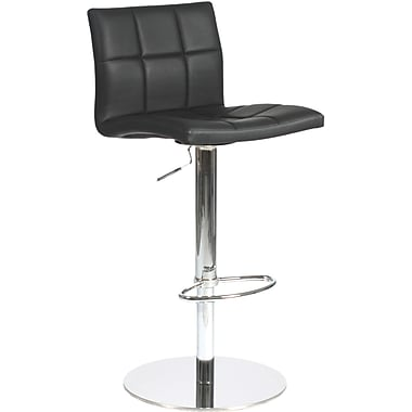 Euro Style™ Cyd Leatherette Bar/Counter Stool, Black
