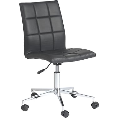 Euro Style™ Cyd Leatherette Office Chair, Black