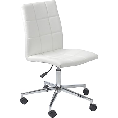 Euro Style™ Cyd Leatherette Office Chair, White