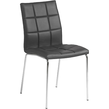 Euro Style™ Cyd Leatherette Dining Side Chair, Black