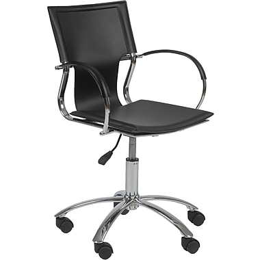 Euro Style™ Vinnie Leather Office Chair, Black