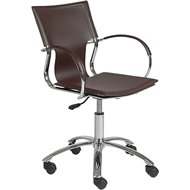 Euro Style™ Vinnie Leather Office Chair, Brown