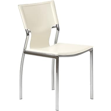 Euro Style™ Vinnie Leather Dining Side Chair, White