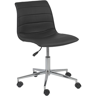 Euro Style™ Ashton Leatherette Office Chair, Black
