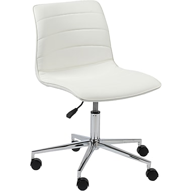 Euro Style™ Ashton Leatherette Office Chair, White