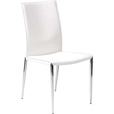 Euro Style™ Max Leather Dining Side Chairs