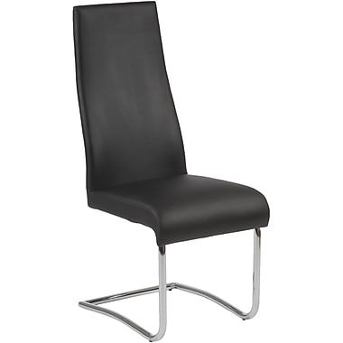 Euro Style™ Rooney Leatherette High Back Dining Side Chair, Black