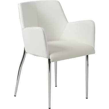 Euro Style™ Sunny Leatherette 4-L Arm Chair, White