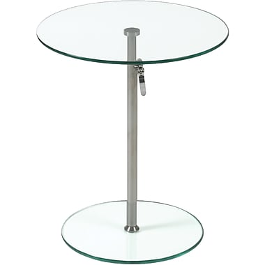 Euro Style™ Radinka 18in. Round Glass Side Table, Clear