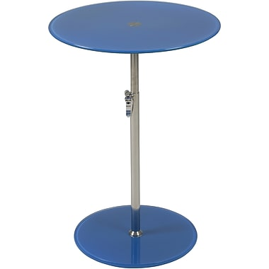 Euro Style™ Radinka 18in. Round Glass Side Table, Blue
