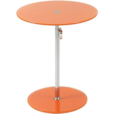 Euro Style™ Radinka 18in. Round Glass Side Table, Orange
