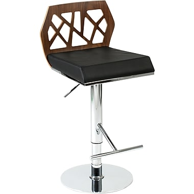 Euro Style™ Sophia Leatherette Bar/Counter Stool, Black/Walnut