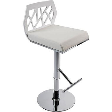 Euro Style™ Sophia Leatherette Bar/Counter Stool, White